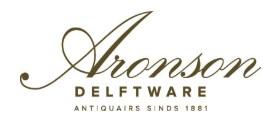 Logo van Aronson delftware